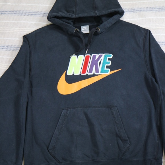 59622720add6e Rare NIKE Patchwork Logo Orange Swoosh Hoodie. M_5c65a900a5d7c651a65f48fb
